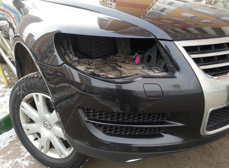 Кража передних фар автомобиля